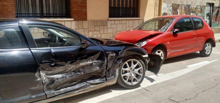 Accident múltiple en un carrer de Benicarló però sense danys personals