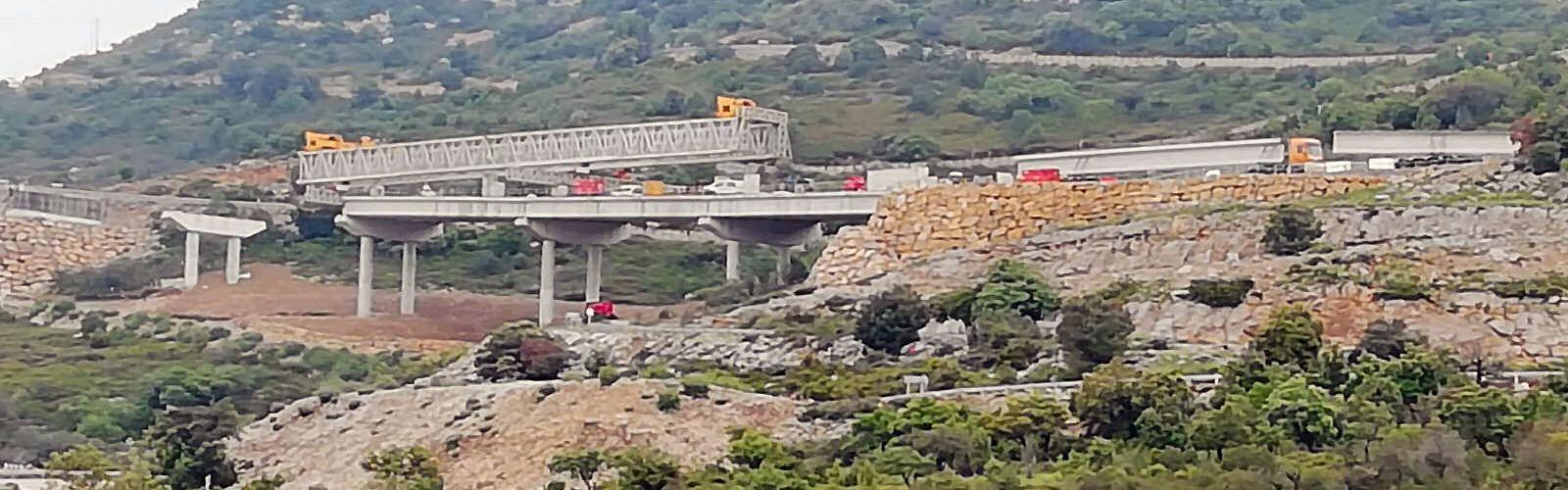 El viaducte del port de Querol va prenent forma