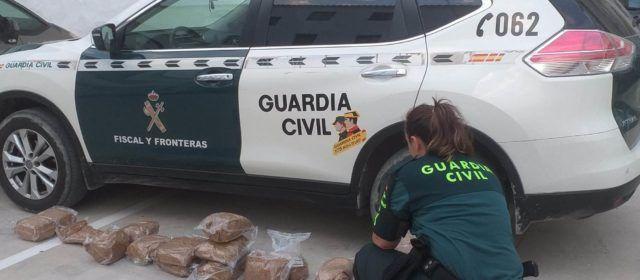 La Guardia Civil intercepta en  Sant Carles de la Ràpita 36 kilos de picadura de tabaco