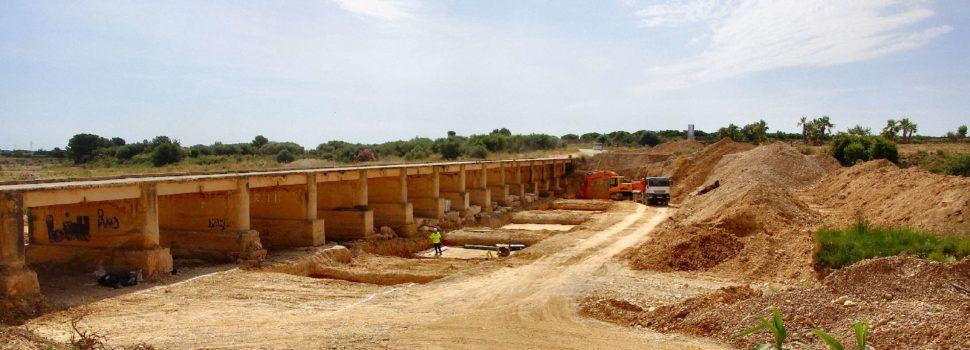 Vídeo: nou pont en construcció a la carretera de l'ermita de Vinaròs