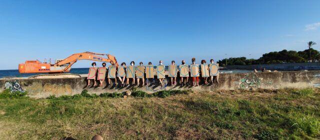 Acte de protesta per les obres a la desembocadura del Cervol a Vinaròs