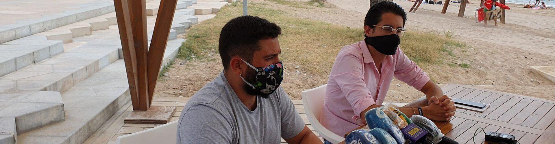 Vídeo: regidors Marc Albella i Hugo Romero, Vinaròs, actualitat sobre platges