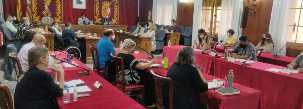 Fotos i vídeo: La nova imatge del saló de plens de l'Ajuntament de Vinaròs per la Covid-19