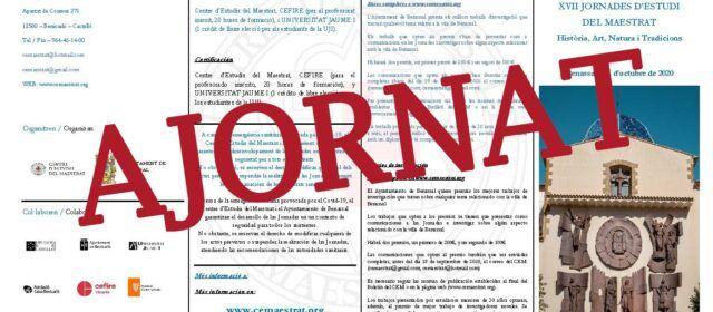 Ajornades per la pandèmia les XVII Jornades d'Estudis del Maestrat