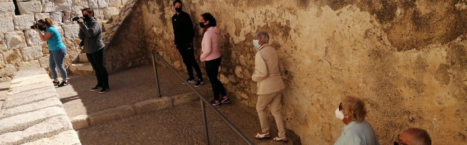 Bona acollida de la jornada de portes obertes al Castell de Peníscola
