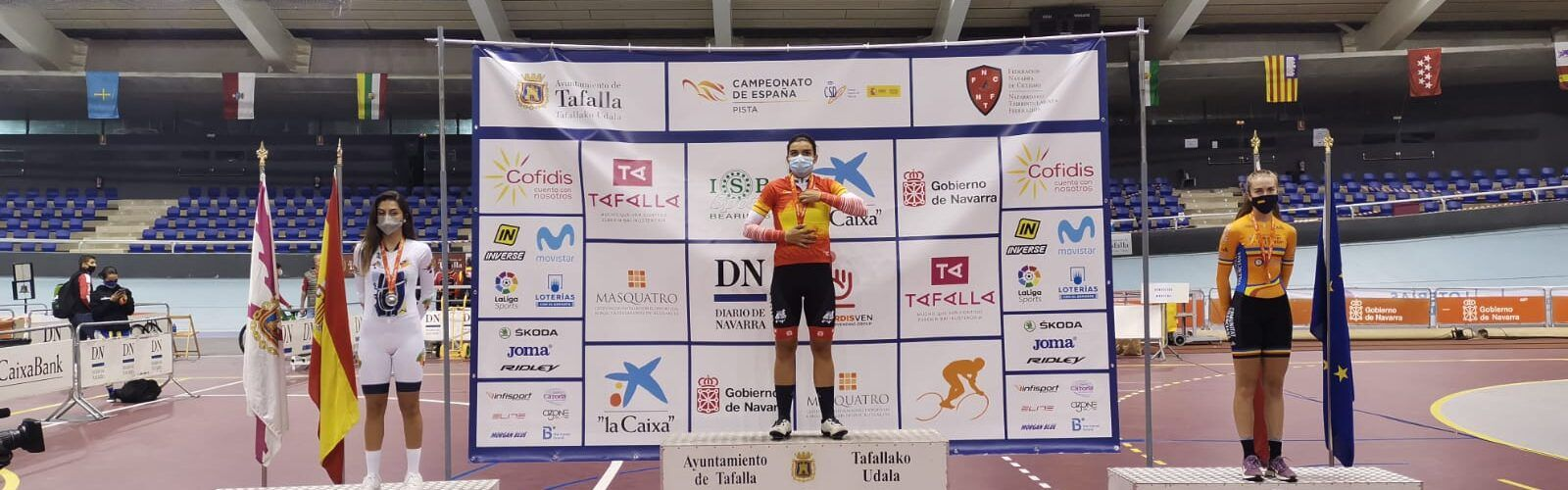 La ciclista Carla Pruñonosa, de Càlig, or en persecució per equips al campionat d'Espanya de Pista