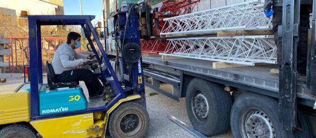 Comencen els treballs d'instal·lació d'una torre eòlica a Tírig