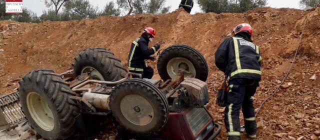 Vecino de Vinaròs fallecido, además de un herido, en accidente de tractor en Sant Jordi
