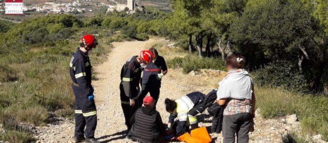 Rescate de una mujer lesionada en Santa Magdalena