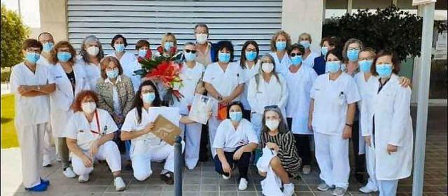 Jubilació de Tonica Gascó, després de 28 anys treballant a l'Hospital Comarcal de Vinaròs