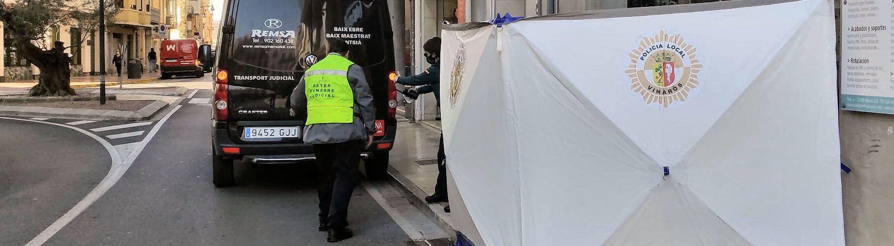 Fallece un viandante en la calle del Pilar de Vinaròs