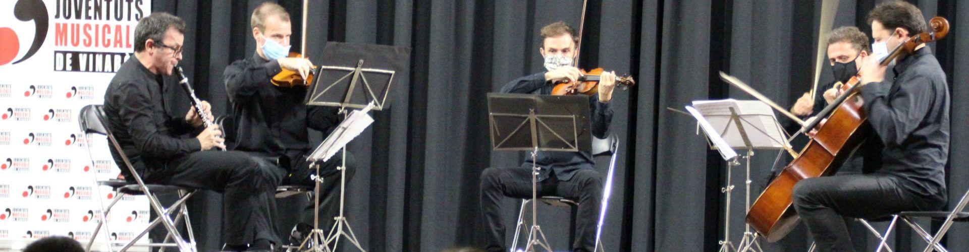 """Un cuarteto de cuerda, en el primer concierto del festival """"Ciutat de Vinaròs"""" 2020"""