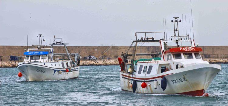 Ben Vist: Barques entrant al port de Vinaròs