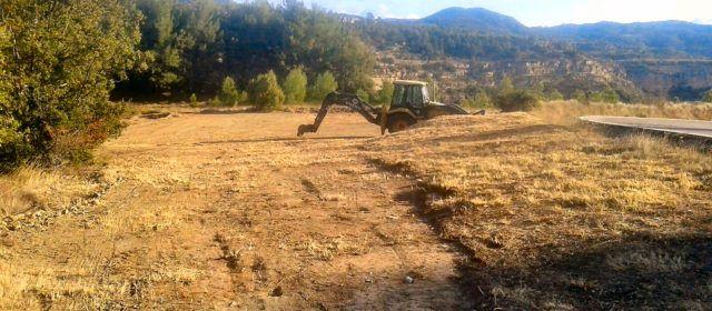 Vallibona construeix una superfície per a helicòpters