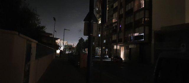 Fotos: carrers sense llum a Vinaròs