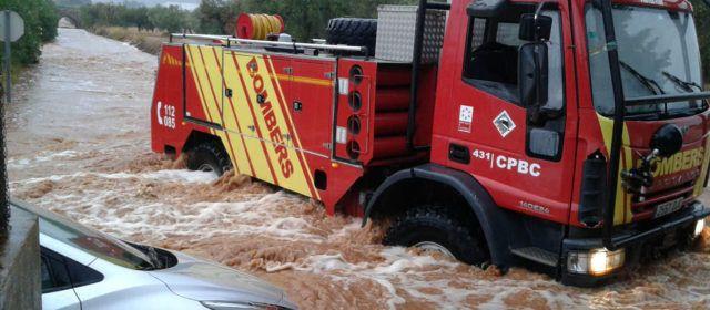 El Consorci de Bombers prepara el seu dispositiu davant l'alerta taronja per fortes pluges decretada per a la província de Castelló