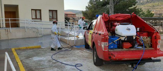 La Diputació realitza des de l'inici de la pandèmia 600 desinfeccions en els pobles
