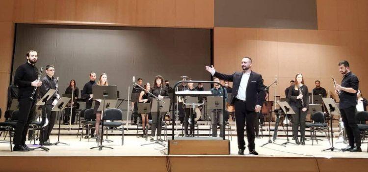 Concert de la banda de la UJI, dirigida pel canetà Miguel Joaquín Selva