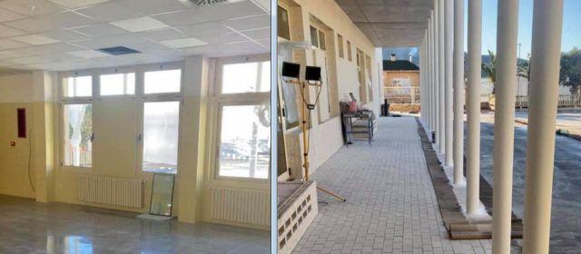 Marzá visita el nou aulari de Canet lo Roig i les obres del Jaume I a Vinaròs