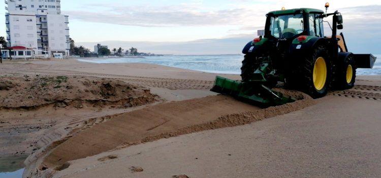 Benicarló neteja les platges, després de Filomena