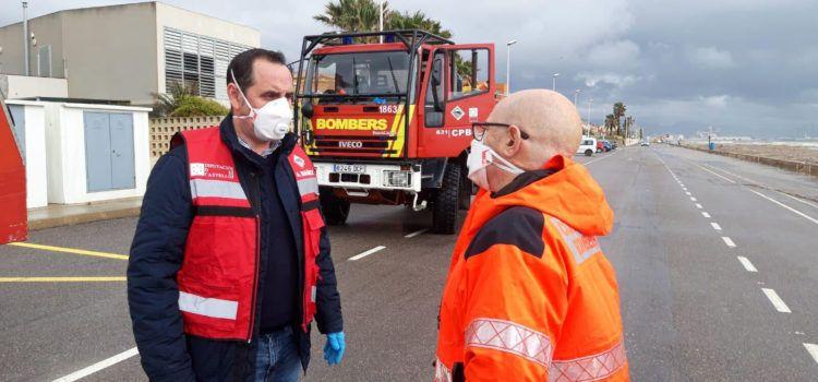 La Diputació demana a la població que demà divendres extreme les precaucions davant les ratxes de vent de 100 km/h