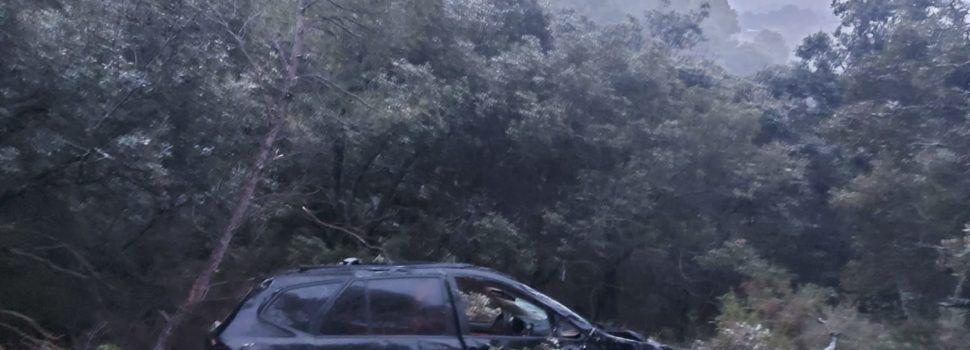 Rescatada una mujer tras caer por un terraplén en el camino rural de Rossell a Vallibona