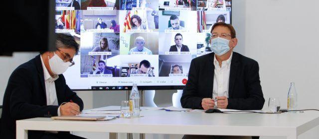 Ximo Puig explica a los alcaldes que habrá tres modalidades de vacunación