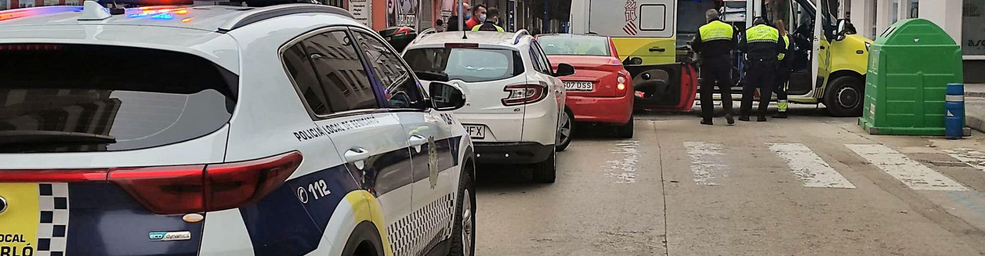 Accidente entre dos turismos en Benicarló