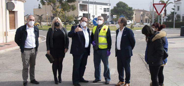 El president de la Diputació visita obres de millora a les carreteres de Rossell, Sant Rafael del Riu i la Pobla de Benifassà