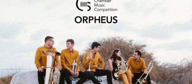 El grup Kambrass Quintet, amb el canareu Oriol Reverter, guanyador del 2n premi a l'Orpheus Swiss Chamber Music Competition