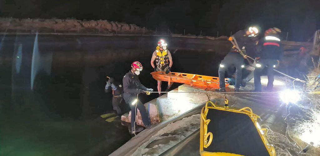 Rescate de un hombre fallecido en una balsa de Olocau del Rey