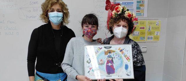Àfrica Casanova Morales, del CEIP Sant Sebastià, guanya el concurs de dibuix del Carnaval de Vinaròs