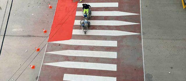 Nova senyalització horitzontal i reasfaltatge a diferents carrers d'Alcanar