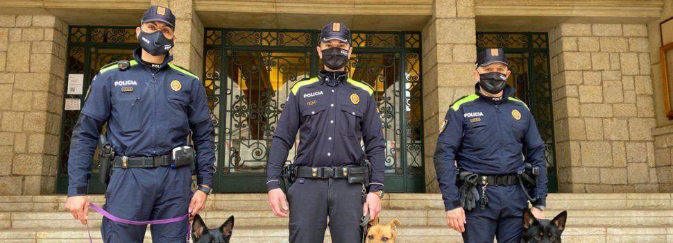 La unitat canina de la Policia Local d'Amposta, operativa de nou