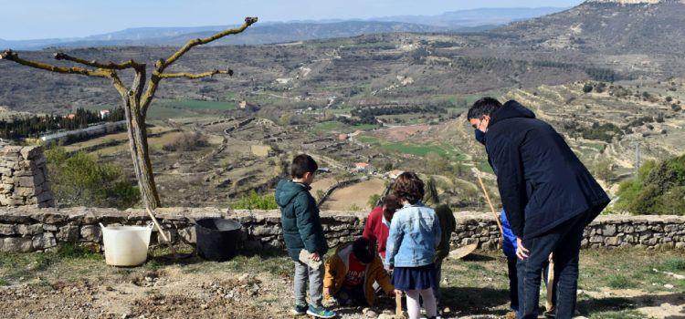 El col·legi de Morella celebra el dia de l'arbre