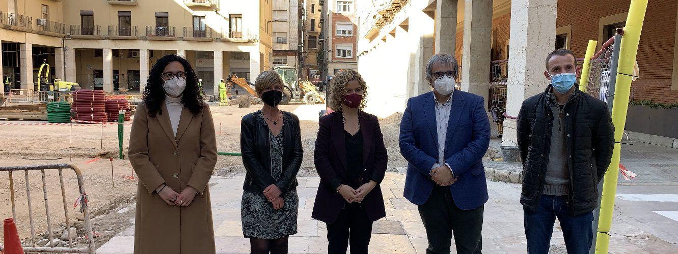 Visita institucional de la presidenta de la Diputació, Noemí Llauradó, a l'Ajuntament de Tortosa