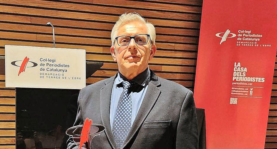 Julio Vidal, cap d'informatius de SER Maestrat, distingit pel Col·legi de Periodistes de Catalunya