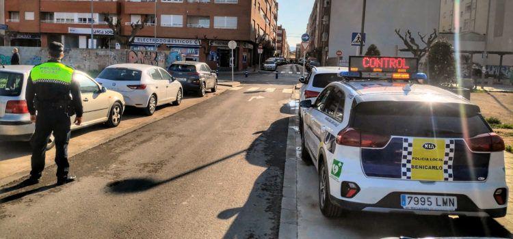La Policia Local de Benicarló denuncia 23 vehicles en la campanya de control de cinturons de seguretat