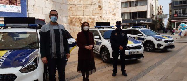 La Policia Local de Benicarló incorpora tres nous vehicles patrulla