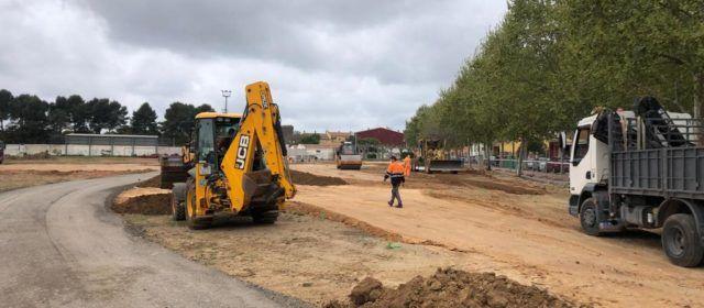 Avancen les obres del nou parc i zona verda d'Alcalà de Xivert