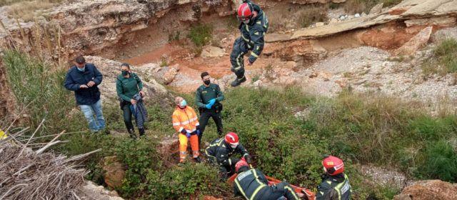 Rescatada en Benicarló una mujer precipitada al cauce de la Rambla Cervera