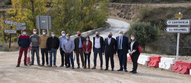 La Diputació de Castelló recepciona oficialment l'obres de remodelació de la CV-120 entre La Mata i el límit amb la província de Terol