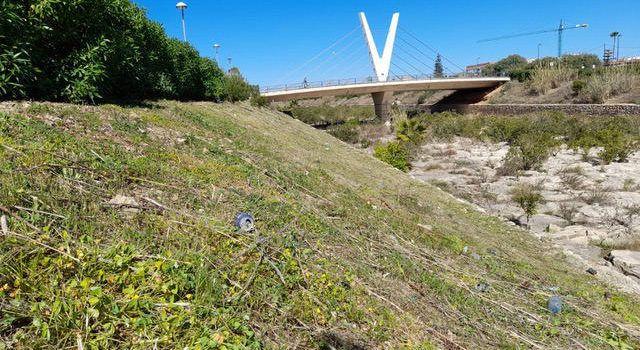 Obres i Serveis neteja els talussos del riu Cervol