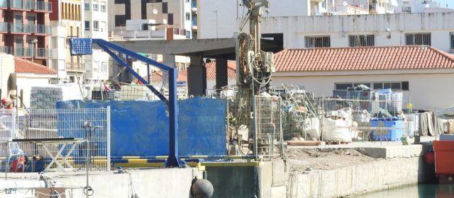 Reparación del dique de descarga del puerto de Vinaròs