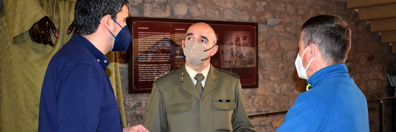 Visita del nou Subdelegat de Defensa a Morella