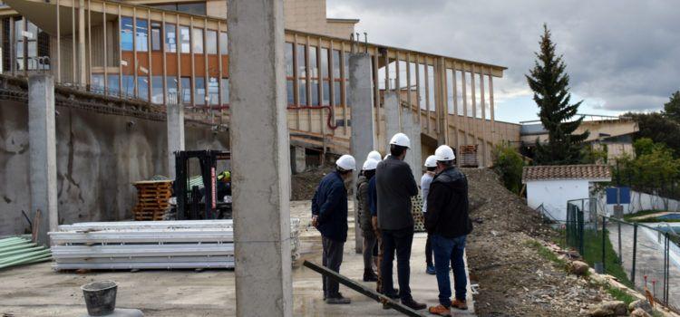 Molt avançada l'estructura de les noves aules del col·legi de Morella