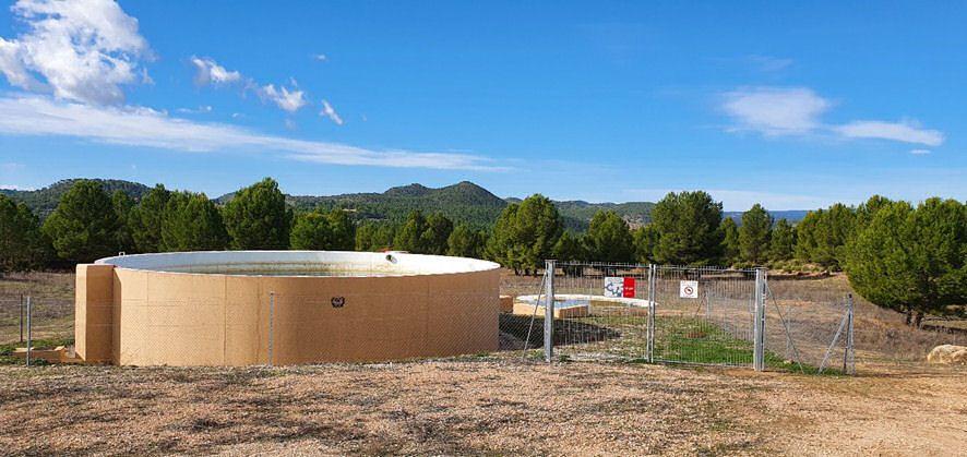 En construcción depósitos para extinción de incendios forestales en Cabanes, Cinctorres, Morella, Rossell y Xert