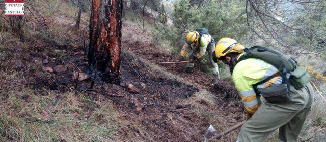 Conato de incendio en Morella por caída de rayos