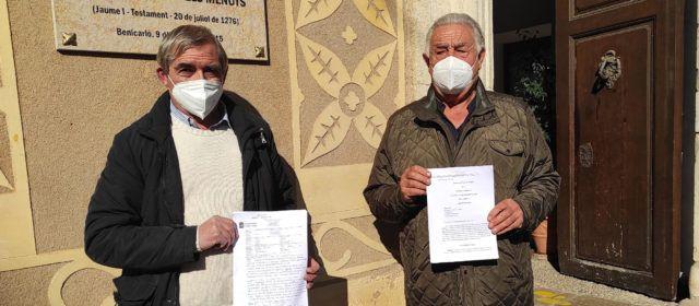 Representantes de las Partidas Riu- Surrach-Aiguaoliva presentan al Ayuntamiento, copia de la Sentencia sobre el PATIVEL