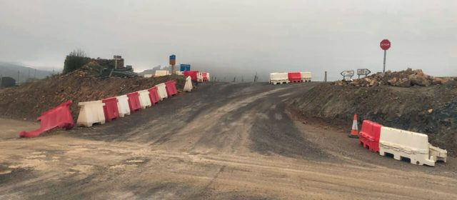 Vallibona protesta per l'estat actual de l'accés a la carretera
